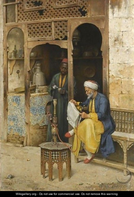The Coffee House, Cairo - Arthur von Ferraris