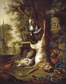 Still Life With Dead Game And An Ornate Vase - Dirk Valkenburg