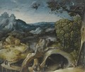 An Extensive Landscape With The Temptation Of St. Anthony - (after) Lucas Gassel