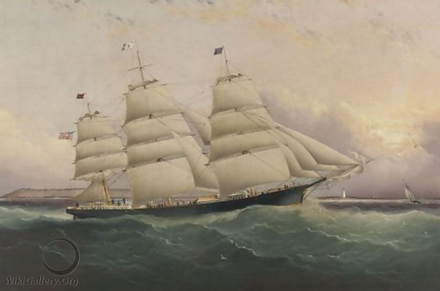 The Clipper Ship Sunrise - James E. Buttersworth