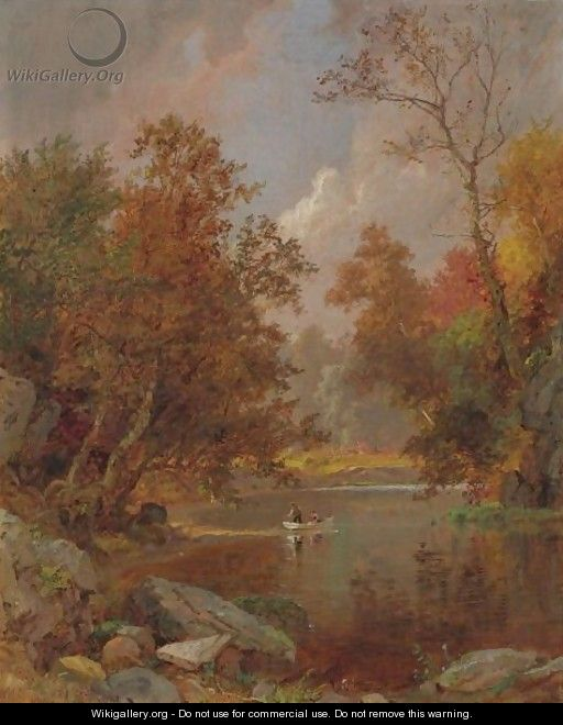 Autumn On The River - Jasper Francis Cropsey