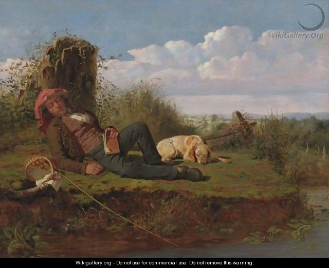 The Lazy Fisherman - William Tylee Ranney