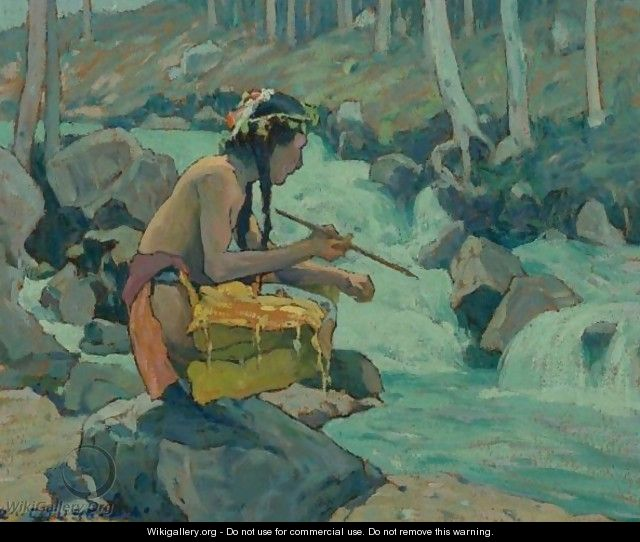Indian By A Stream - Eanger Irving Couse