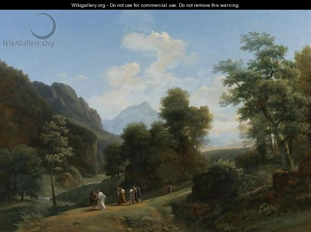A Classical Landscape With Marius Fleeing Rome At The Approach Of Sylla 2 - Jean-Victor Bertin