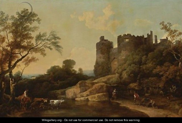 View Of Harlech Castle, Wales - Philip Jacques de Loutherbourg