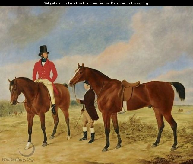 Gentleman With A Horse And Groom - George Morley