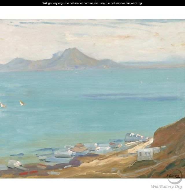 Hammam Lif, Bay Of Tunis, Evening, From Sidi Bu Said - Sir John Lavery