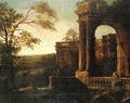 Landscape With Classical Pavilion - (after) Tommaso Costa