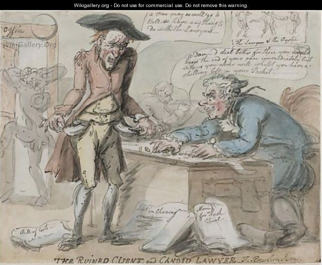 The Ruined Client And The Candid Lawyer - Thomas Rowlandson