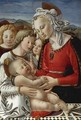 The Madonna And Child With Three Angels ('The Benson Madonna') - Fra Diamante
