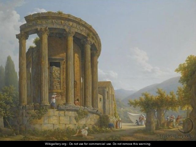 Tivoli, A View Of The Temple Of The Sibyl - Abraham Louis Rudolph Ducros