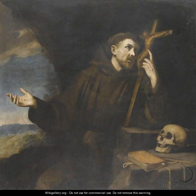 The Penitent St Francis Of Assisi - Neapolitan School