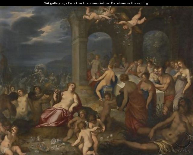 The Feast Of The Gods - The Marriage Of Peleus And Thetis - (after) Hans I Rottenhammer