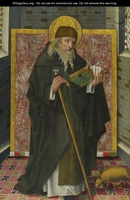 Saint Anthony Abbot - Spanish Unknown Masters
