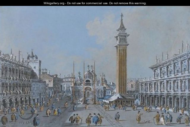 View Of Piazza San Marco - Giacomo Guardi