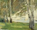 Birch Trees On The Banks Of Wannsee, To The East - Max Liebermann
