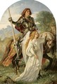 Sir Galahad And The Angel - Sir Joseph Noel Paton