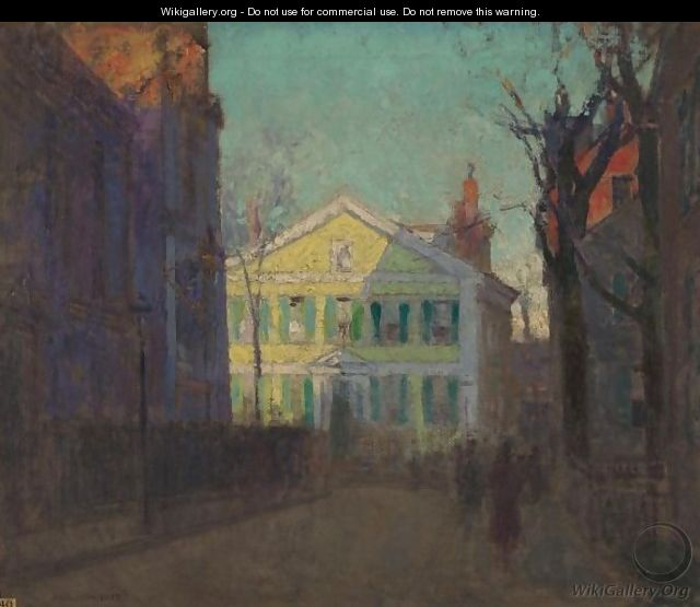 The Street Beyond - Paul Cornoyer