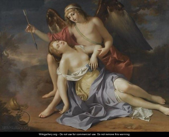 Eros And Psyche - French School