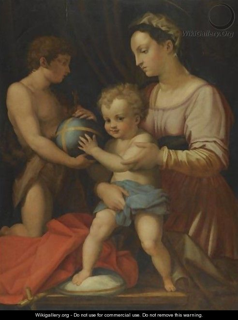 Madonna And Child With The Young St John The Baptist,