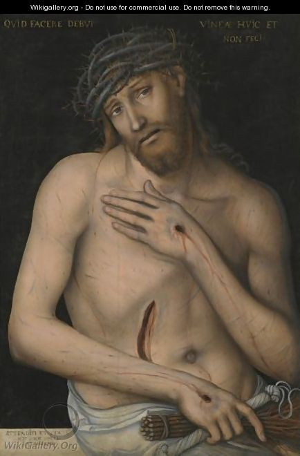 Christ As The Man Of Sorrows - Lucas The Younger Cranach