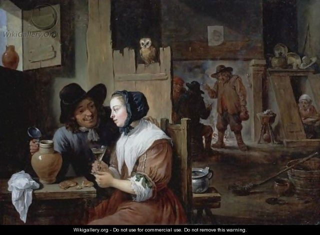 A Young Couple In An Inn - David The Younger Teniers
