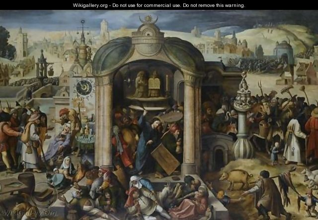 Christ Expels The Money-Lenders From The Temple - (after) Hieronymus Bosch