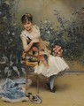 Aline With Flowers - Raimundo de Madrazo y Garreta