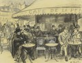 Cafe De La Paix - William Glackens