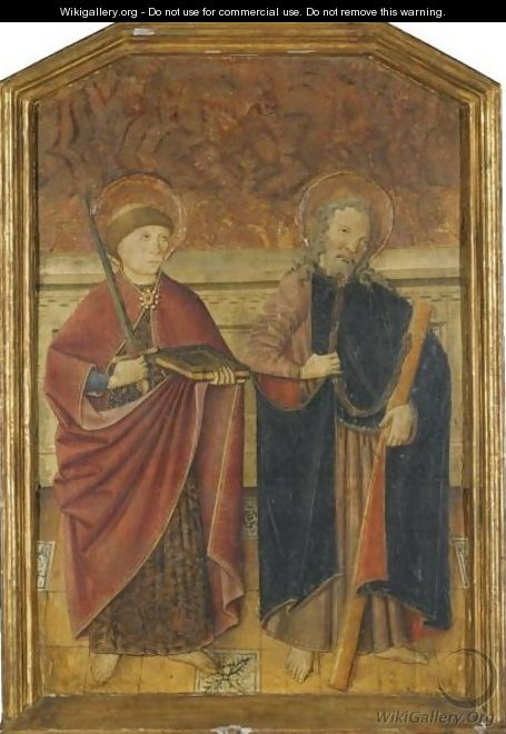 A Pair Of Male Saints, Possible St Gervase And St Protase - Spanish School