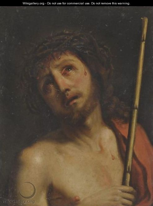 Christ Crowned With Thorns - (after) Giovanni Francesco Guercino (BARBIERI)