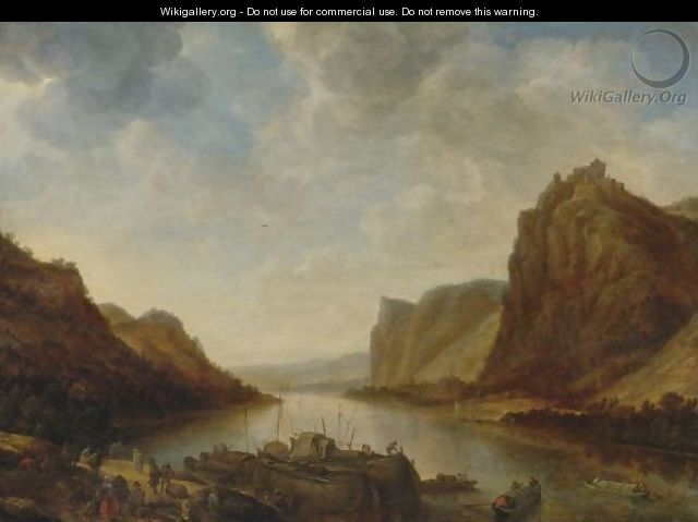 A View Of The Rhine Near Hammerstein - Herman Saftleven