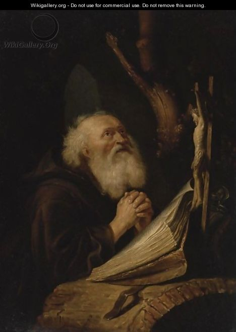 Hermit At Prayer - (after) Gerrit Dou