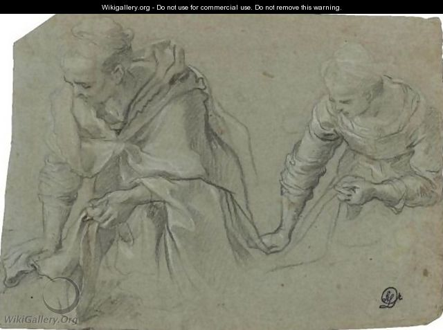 Two Women At Work - (after) Federico Fiori Barocci