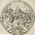 A Roundel With A Historical Scene From And The Arms Of Thomann Of Zurich - Christoph Murer