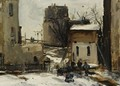 Village In Winter - Antoine Vollon