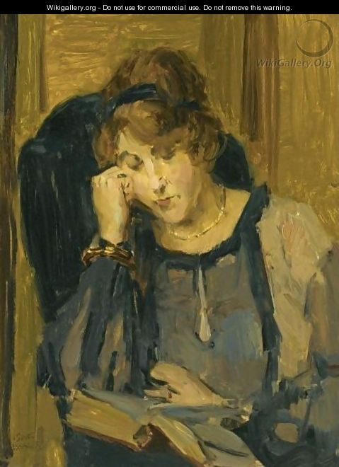 A Woman Reading - Isaac Israels