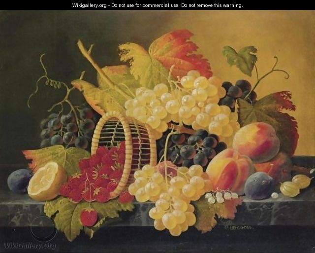 Still Life With Strawberries And Fruit - Severin Roesen