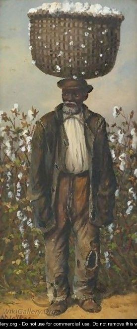 Man With A Basket Of Cotton - William Aiken Walker