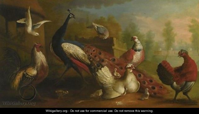 Birds In A Landscape - Marmaduke Cradock