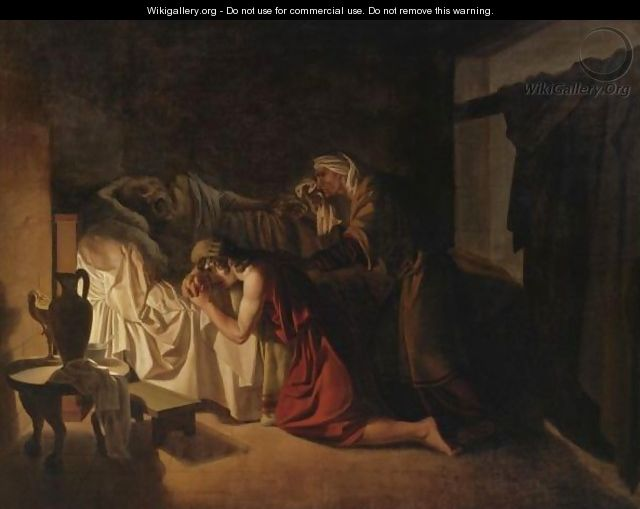 The Death Of Socrates - Jean-Jacques-Augustin-Raymond Aubert
