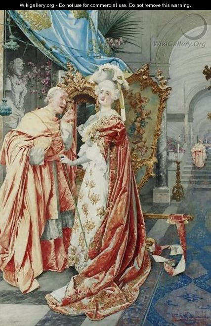 The Cardinal And The Lady - Guiseppe Signorini
