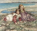 Two Young Girls On A Clifftop - Edward Atkinson Hornel