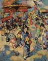 Carnival Day, Japan - Edward Atkinson Hornel