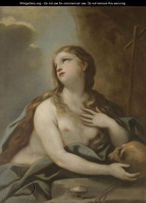 The Penitent Mary Magdalene - (after) Luca Giordano
