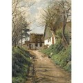 En Landevej (A Country Lane) - Peder Monsted