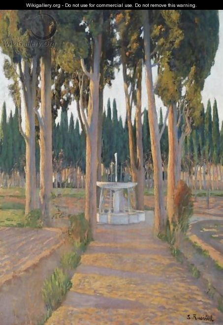 Golden Cypresses - The Orchard Of The Duke Of Gor - Santiago Rusinol i Prats