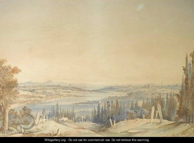 View Of Constantinople From Eyup - Amadeo Preziosi