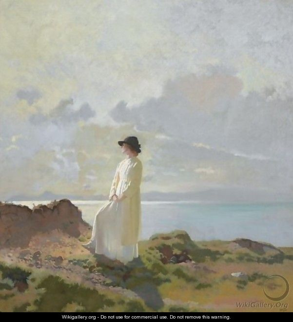 On The Cliff, Dublin Bay, Morning - Sir William Newenham Montague Orpen