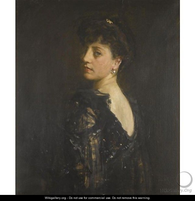 Portrait Of Lady Young - Sir John Lavery